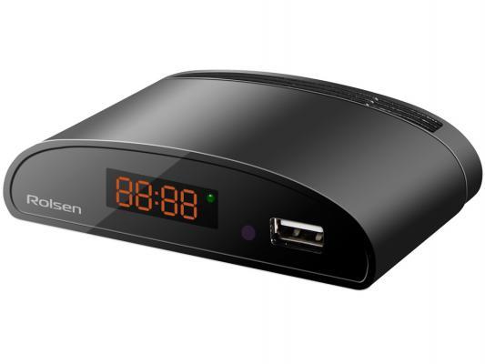 Тюнер цифровой DVB-T2 Rolsen RDB-523A черный