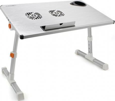 Столик для ноутбука до 17 Crown CMLS-101 алюминий/пластик стол подставка для ноутбука crown cmls 100 до 17 с вентилятором алюминий черная