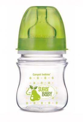 Купить Бутылочка для кормления Canpol Фрукты 120 мл с 3 месяцев зеленый 35/212, для мальчика, Бутылочки для кормления