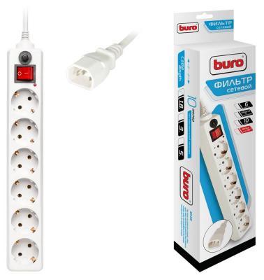 Сетевой фильтр BURO 600SH-1.8-UPS-W белый 6 розеток 1.8 м
