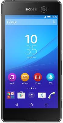 Смартфон SONY Xperia M5 Dual черный 5 16 Гб NFC LTE Wi-Fi GPS E5633 аксессуар защитная пленка sony xperia m5 m5 dual aksberry матовая