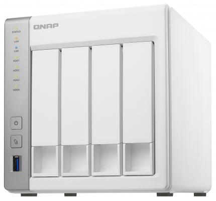 "Сетевое хранилище QNAP TS-431+ 4x3.5""/2.5"" HDD RAID 0/1/10/5/6 2xGbLAN 3xUSB"