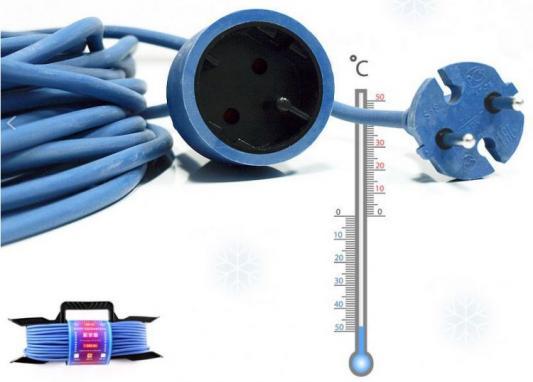Удлинитель Power Cube PC-E1-F-10-R синий 1 розетка 10 м