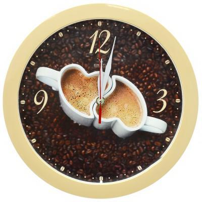 Часы настенные Вега П 1-14/7-225 бежевый часы настенные вега п 1 14 7 12