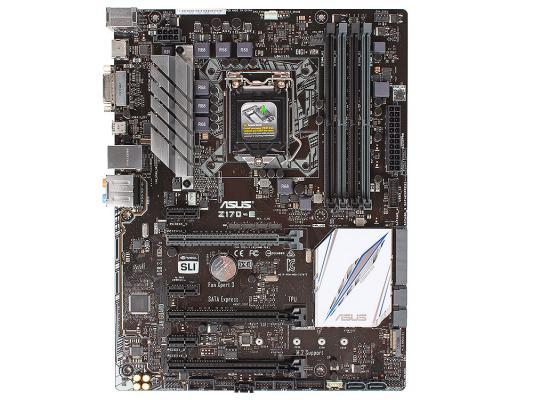 Мат. плата для ПК ASUS Z170-E Socket 1151 Z170 4xDDR4 3xPCI-E 16x 3xPCI-E 1x 6xSATAIII ATX Retail 90MB0P60-M0EAY0
