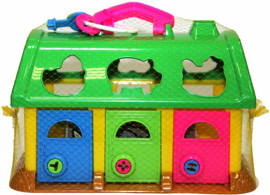 Развивающая игрушка Полесье Домик для зверей с синей крышей 9166 - ПОЛЕСЬЕРазвивающие центры для малышей<br><br>