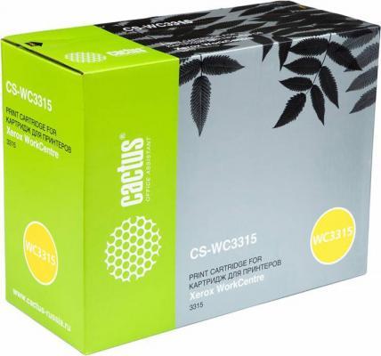 Картридж Cactus CS-WC3315 106R02308 для Xerox WorkCentre 3315 черный 2300стр картридж xerox 106r02308 для workcentre 3315 2300стр черный