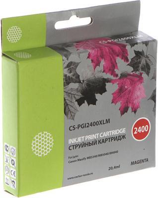 Картридж Cactus CS-PGI2400XLM для Canon MAXIFY iB4040/МВ5040/МВ5340 пурпурный картридж для струйных аппаратов canon pgi 2400xl c для maxify ib4040 мв5040 и мв5340 голубой 9274b001 9274b001