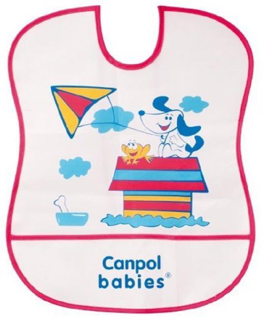 Нагрудник Canpol пластиковый мягкий 2/919 красный канпол нагрудник пластиковый мягкий