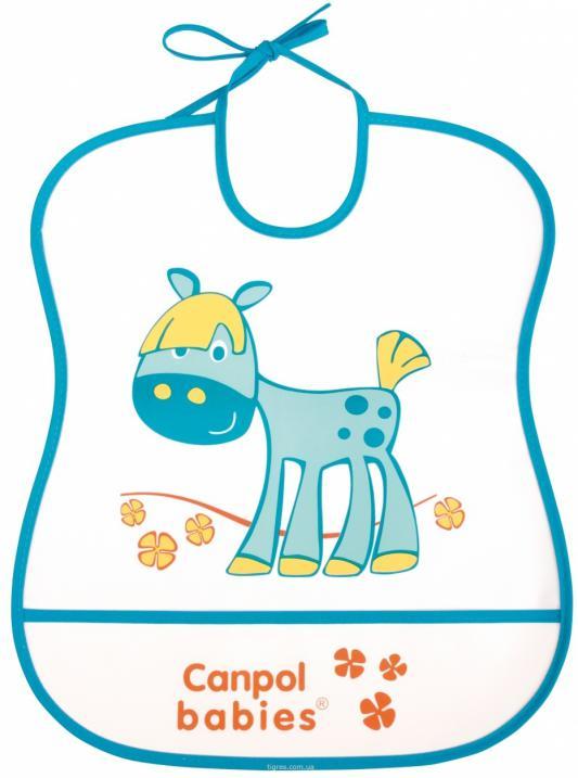 Нагрудник Canpol пластиковый мягкий 2/919 синий канпол нагрудник пластиковый мягкий