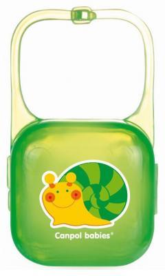 Контейнер для пустышки Canpol 2/927 с рождения зеленый canpol babies мисочка с ложкой и крышкой canpol babies розовый