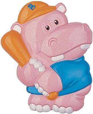 Держатель для пустышки Canpol 3D-животные Бегемот с рождения розовый 2/415 блокиратор для двери canpol babies 2 691 230821007