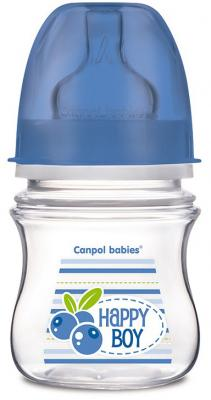 Купить Бутылочка для кормления Canpol Фрукты 120 мл с 3 месяцев синий 35/212, для мальчика, Бутылочки для кормления