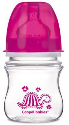 Купить Бутылочка для кормления Canpol EasyStart 120 мл с 3 месяцев розовый 35/205, для девочки, Бутылочки для кормления