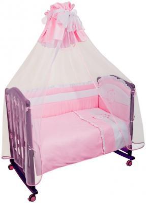 Постельный сет 7 предметов Сонный гномик Пушистик (розовый) сонный гномик борт в кроватку прованс сонный гномик розовый