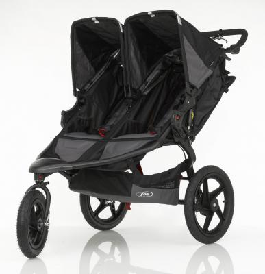 Прогулочная коляска для двоих детей BOB Revolution PRO Duallie (black)