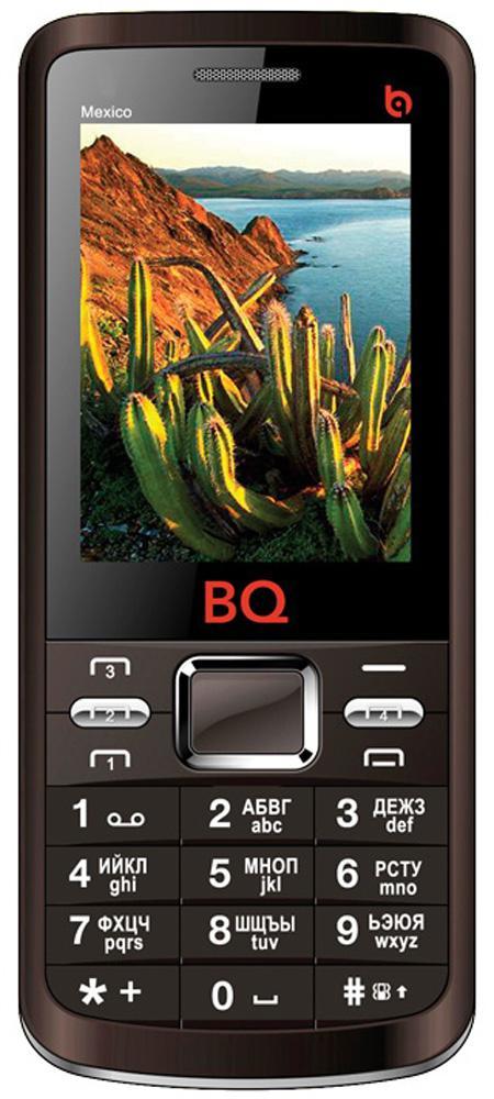 """Мобильный телефон BQ BQM-2408 Mexico коричневый 2.4"""" 32 Мб 4 симкарты"""