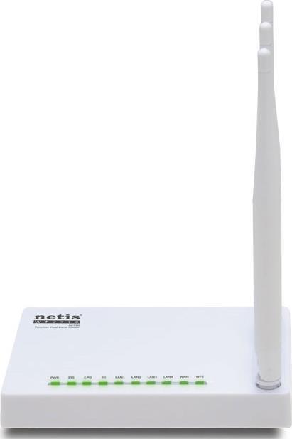 Беспроводной маршрутизатор Netis WF2710 802.11acbgn 733Mbps 2.4 ГГц 5 ГГц 4xLAN RJ45 PoE белый