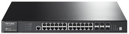 Коммутатор TP-LINK T2700G-28TQ управляемый 24 порта 10/100/1000Mbps 4xSFP коммутатор tp link t1500 28pct smart коммутатор poe на 24 порта 10 100 мбит с и 4 гигабитных порта
