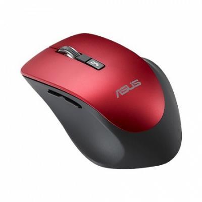Мышь беспроводная ASUS WT425 красный USB + Bluetooth 90XB0280-BMU030 мышь беспроводная asus wt425 синий usb радиоканал 90xb0280 bmu040