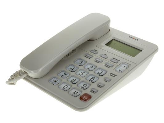 Телефон проводной Texet TX-254 серый