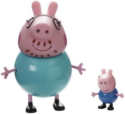 Игровой набор Peppa Pig Семья Пеппы Папа Свин и Джорж 2 предмета 20837 игровой набор peppa pig семья пеппы папа свин и джорж 2 предмета от 3 лет 20837