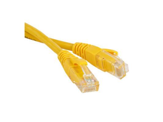 Патч-корд UTP 5E категории 3м Hyperline PC-LPM-UTP-RJ45-RJ45-C5e-3M-LSZH-YL желтый