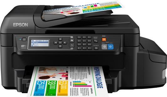 МФУ Фабрика печати Epson L655 цветное А4 33/20ppm 4800x1200dpi Ethernet USB Wi-Fi C11CE71403