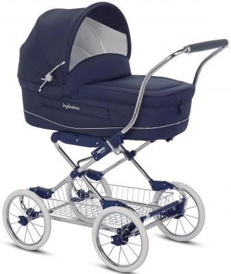 Коляска для новорожденного Inglesina Vittoria на шасси Comfort Chrome/Blu (AB10E1MAR+AE10E1000)