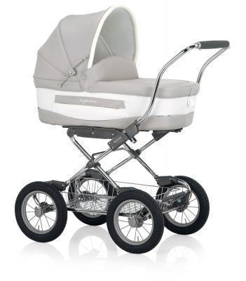 Коляска для новорожденного Inglesina Vittoria на шасси Comfort Chrome/Slate (AB10E6BTL+AE10E6100/B)