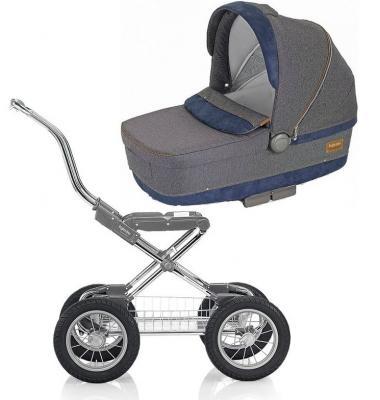 Коляска для новорожденного Inglesina Sofia на шасси Comfort Chrome/Slate (AB15G6JNS + AE10G6100B) коляска для новорожденного inglesina classica на шасси balestrino chrome ivory ab05e0vnl ae05h3100