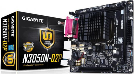 Мат. плата для ПК GigaByte GA-N3050N-D2P с процессором Intel 2xDDR3 1xPCI 2xSATAIII mini-ITX Retail