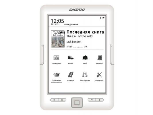 "Электронная книга Digma E629W 6"" E-Ink Carta 4Gb белый"