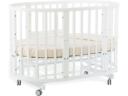 Кроватка-трансформер Nuovita Nido Magia (белый жемчуг)