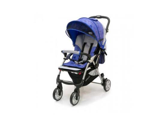 Прогулочная коляска Jetem Tourneo (flover blue/licht grey) коляска трость jetem elegant dark grey blue полоска