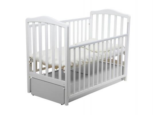Кроватка с маятником Papaloni Винни (белый)