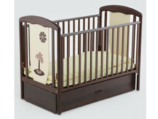 Кроватка с маятником Papaloni Vitalia (шоколад/слоновая кость)