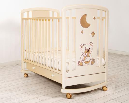 Кроватка-качалка Angela Bella Жаклин 6986 (слоновая кость)