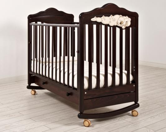 Кроватка-качалка Angela Bella ИзАБ ель 6983 (махагон)