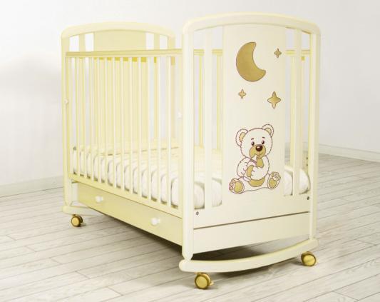 Кроватка-качалка Angela Bella Жаклин 6984 (слоновая кость)