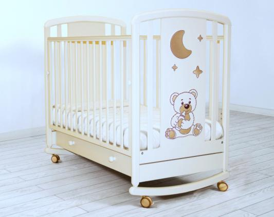 Кроватка-качалка Angela Bella Жаклин 6984 (белая)