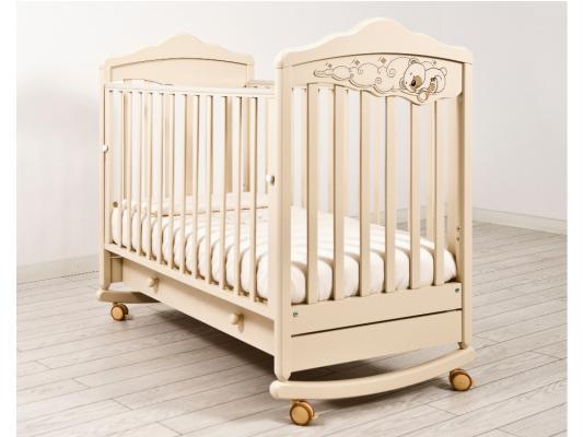 Кроватка-качалка Angela Bella ИзАБ ель 6982 (слоновая кость)