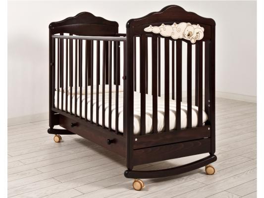 Кроватка-качалка Angela Bella ИзАБ ель 6982 (махагон)