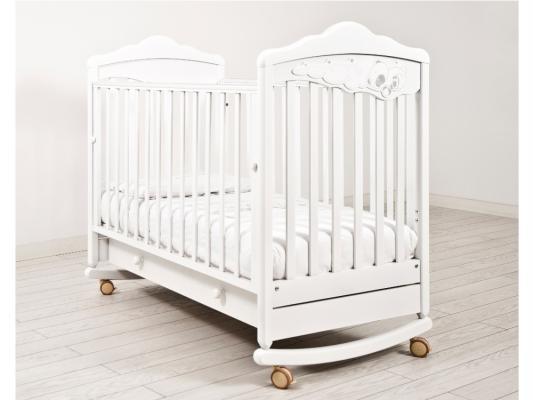 Кроватка-качалка Angela Bella ИзАБ ель 6982 (белая)