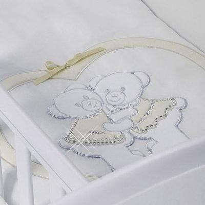 Набор в люльку для двойни Feretti Baby Beddings Culla Gemelli Doppio Nido Enchant (ivory) детские кроватки feretti enchant dondolo качалка