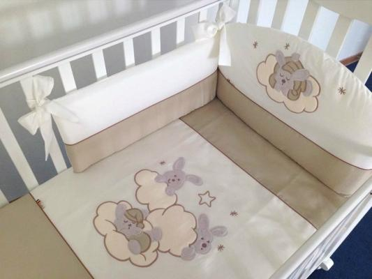 Постельный сет 6 предметов Feretti Sestetto Etoile (beige) детские кроватки feretti etoile качалка