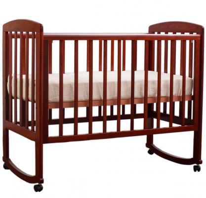 Кроватка-качалка Лель Ромашка АБ 16.0 (орех темный 35) обычная кроватка ведрусс лана 2 темный орех