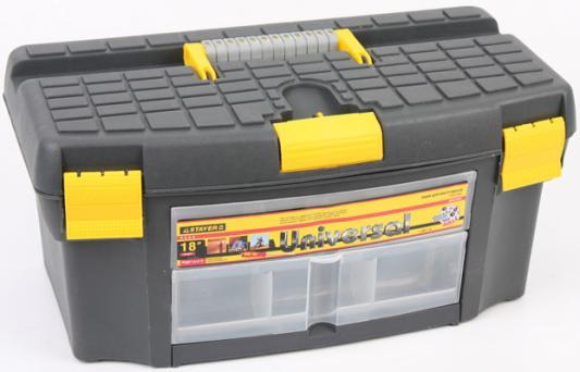 Ящик для инструмента Stayer Universal 18 пластмассовый 2-38011-18 ящик stayer 2 38032