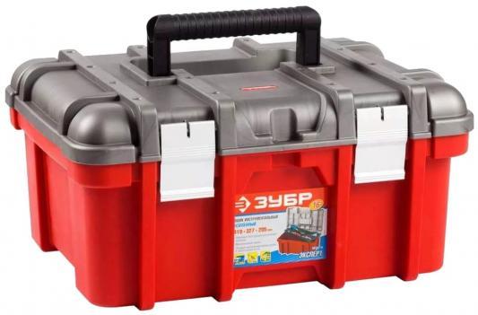Ящик для инструмента Зубр Эксперт 16 пластмассовый 38132-16 ящик для инструментов зубр 16 эксперт 38132 16