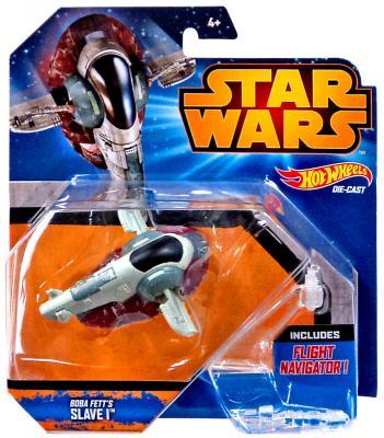 Звездолет Mattel Hot Wheels Star Wars Boba Fett's Slave I от 4 лет CGW52 hot wheels модель звездного корабля boba fett s slave i cgw52 ckj63